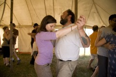 Kingsnorth 2008; an afternoon tango class taking place.