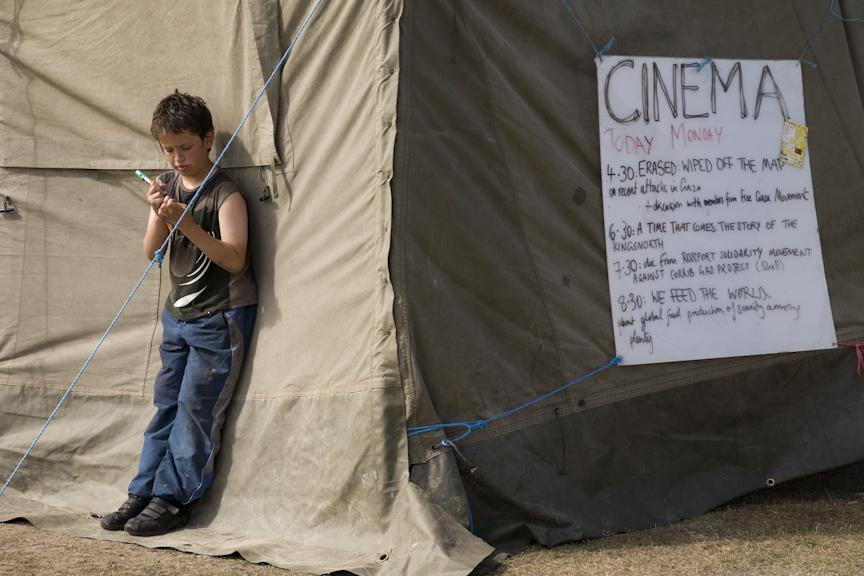 Blackheath 2009; the solar powered cinema space.