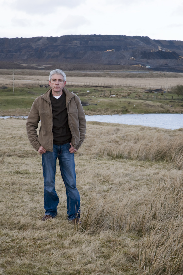 Clive Thomas on common land that will be 'reclaimed' by the coal mine.