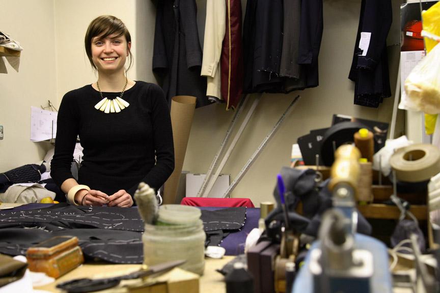 Liv Tailor, winner of a prestigious tailoring award on London Saville Row.