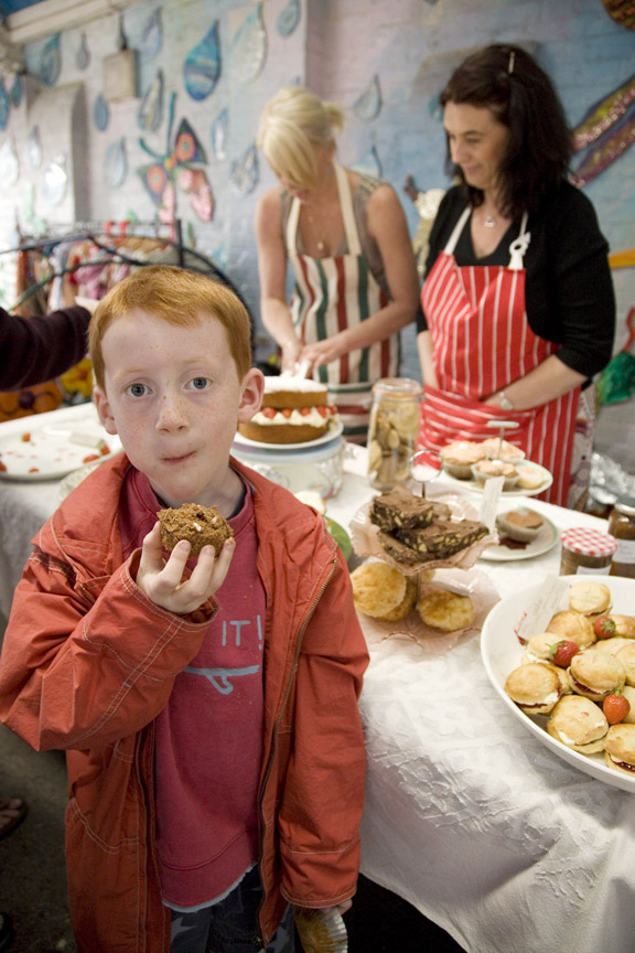 Cupcake munching at Millfield Fair.